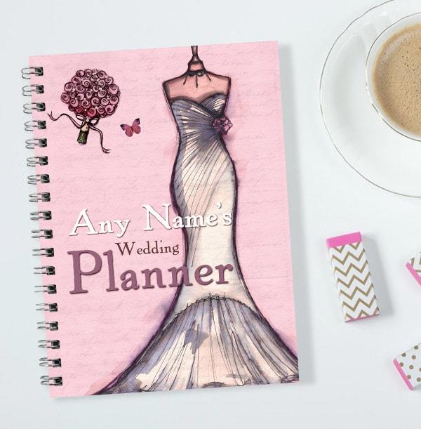 Personalised Pink Roses & Dress Wedding Planner