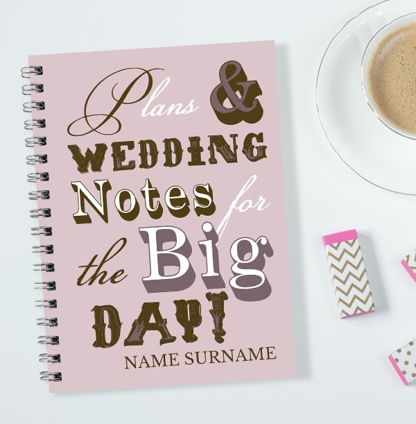 Plans For The Big Day Wedding Notebook