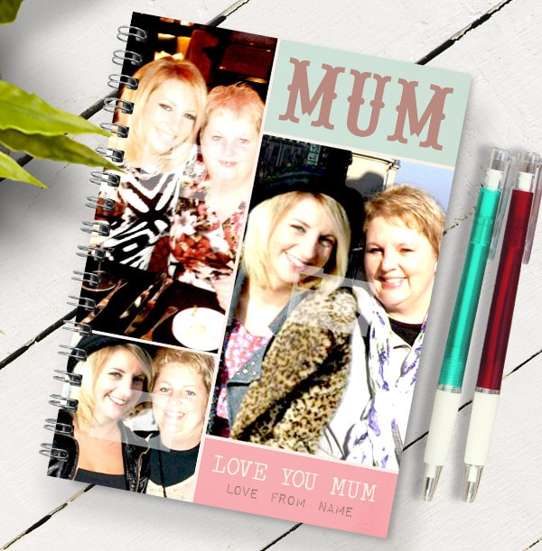 Love You Mum 3 Photo Notebook, From Daughter