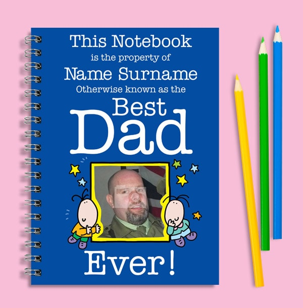 Best Dad Funny Notebook, Personalised