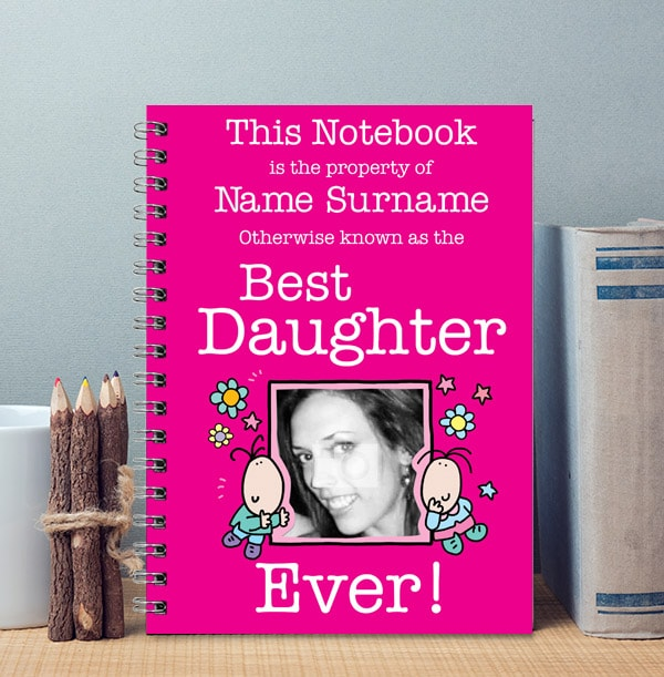 Best Daughter Funny Notebook, Personalised