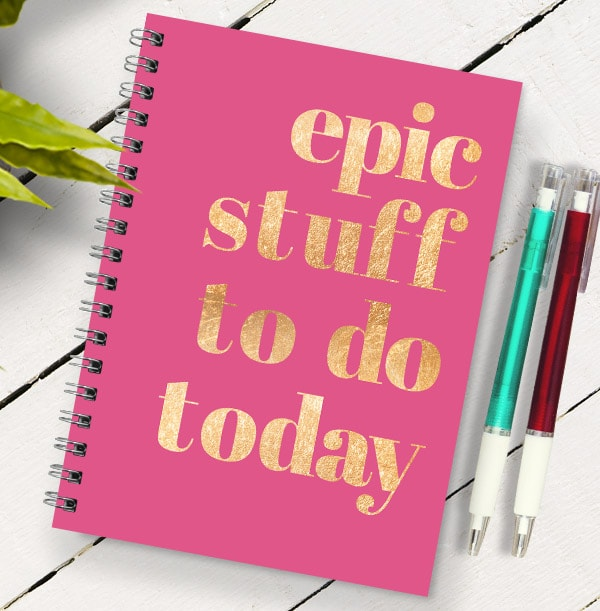 Epic Stuff To Do List Personalised Notebook