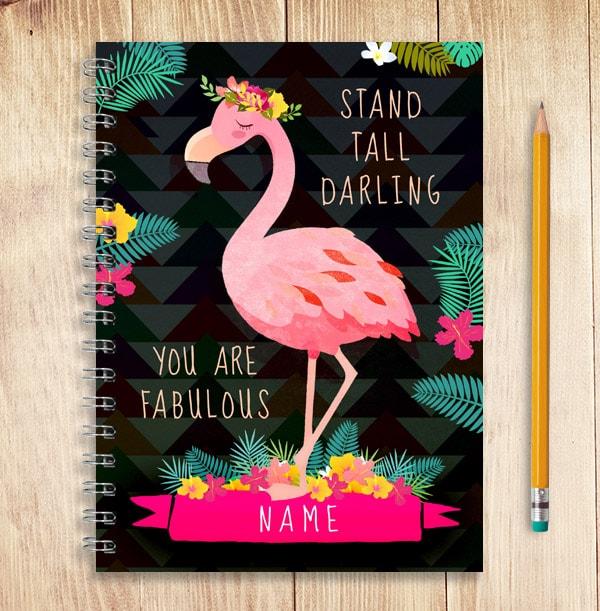 Fabulous Flamingo Personalised Notebook