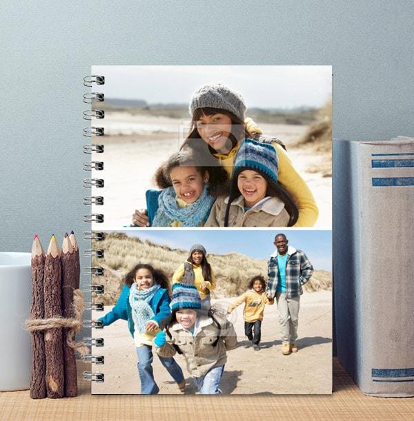 2 Photo Personalised Notebook