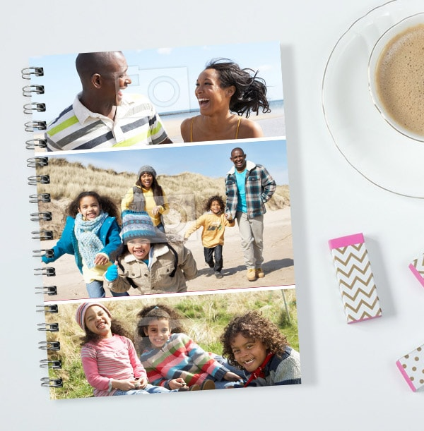 3 Photo Collage Notebook