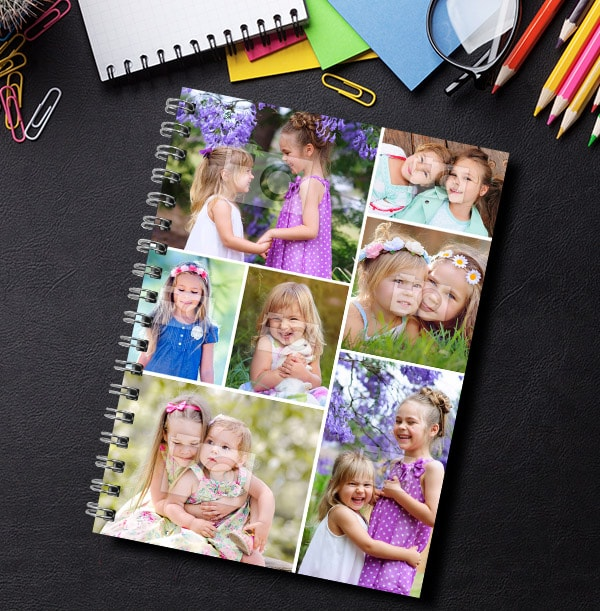 7 Photo Collage Notebook