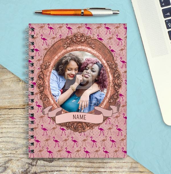 Flamingo Frame Photo Notebook