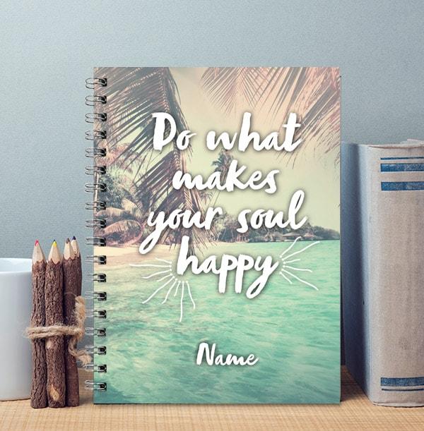 Happy Soul Personalised Notebook