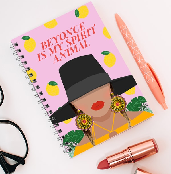 Beyonce Spirit Animal Personalised Notebook