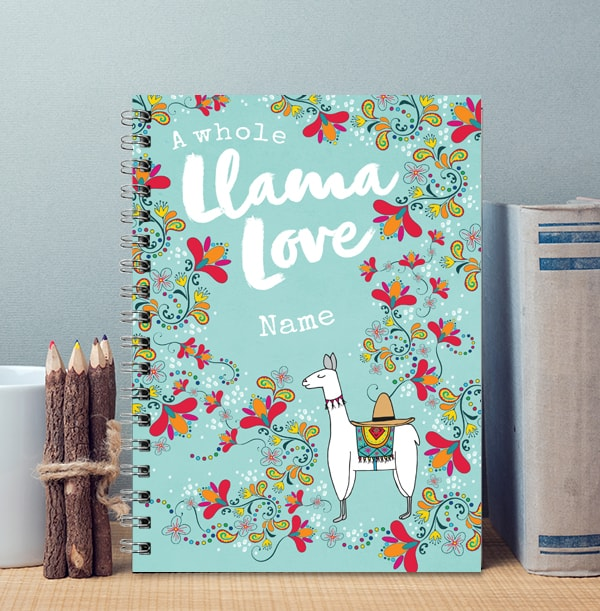 A Whole Llama Love Personalised Notebook