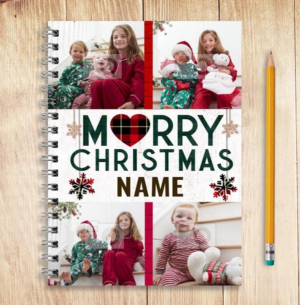 Merry Christmas Multi Photo Notebook