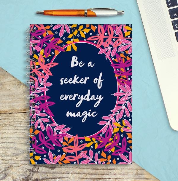 Everyday Magic Personalised Inspiration Notebook