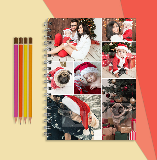 Christmas Photo Collage Notebook