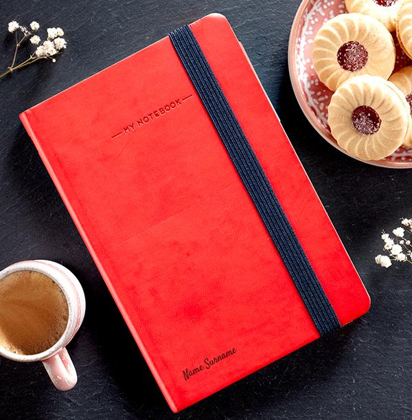 Name Engraved Legami Notebook - Script Font