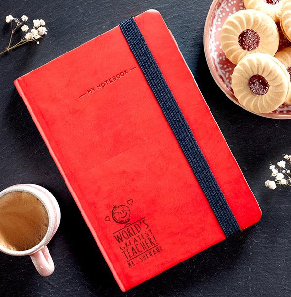 World's Greatest Teacher Engraved Legami Notebook