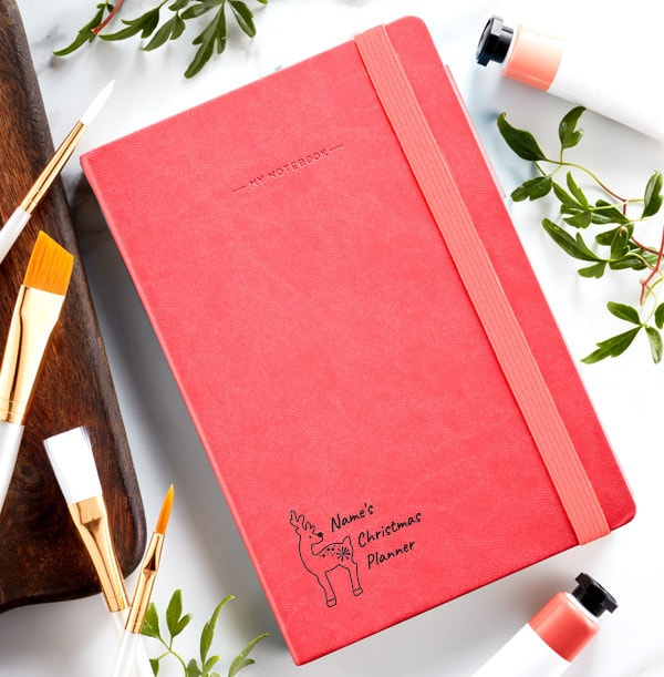 Christmas Planner Engraved Legami Notebook