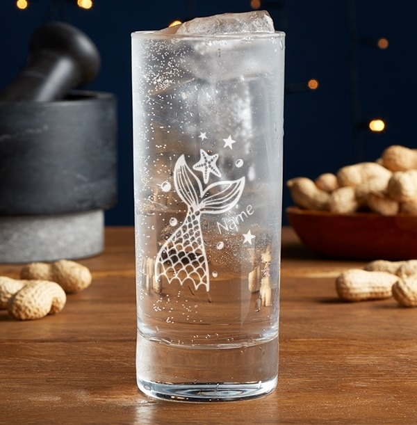 Personalised Mermaid Highball Glass