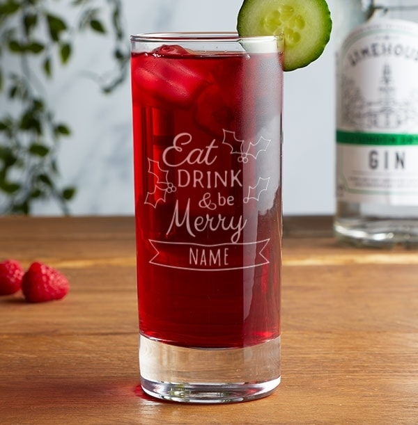Personalised Highball Glass - Be Merry