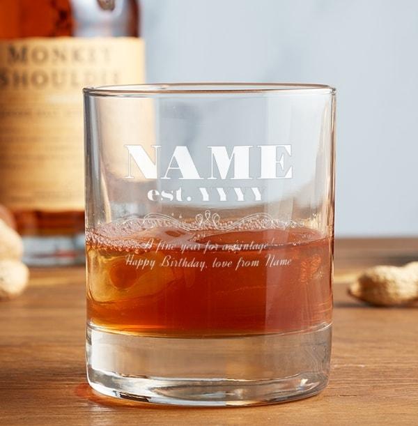 Engraved Whisky Tumbler - Fine Vintage