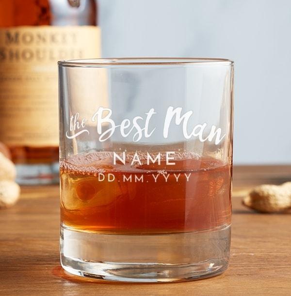 Personalised Best Man Whisky Tumbler