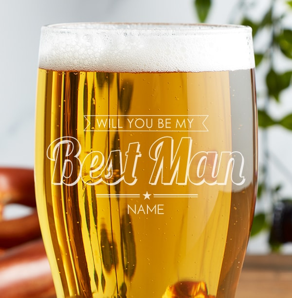 Personalised Pint Glass - Be My Best Man