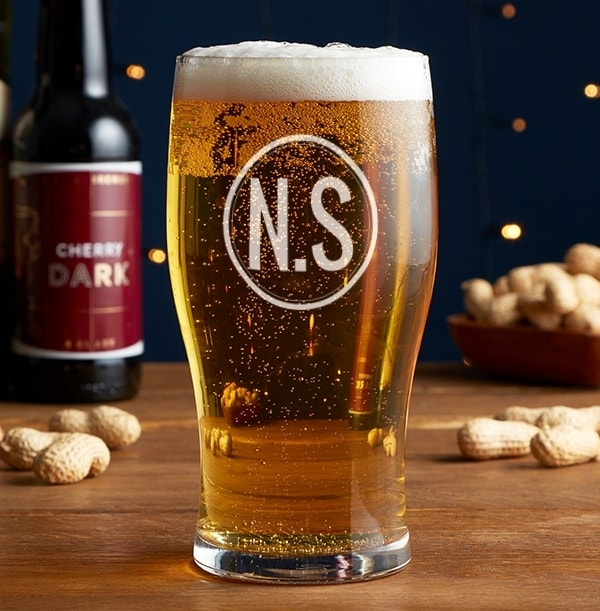 Personalised Large Initials Beer Glass