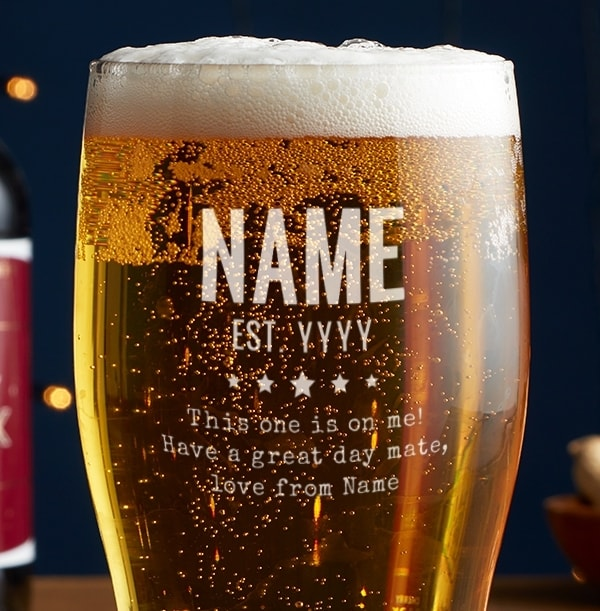 Personalised This One's On Me Pint Glass
