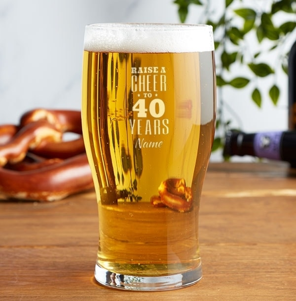 Personalised Pint Glass - Birthday Wishes