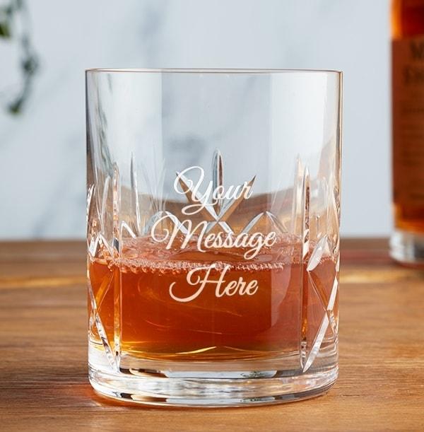 Engraved Crystal Whisky Tumbler