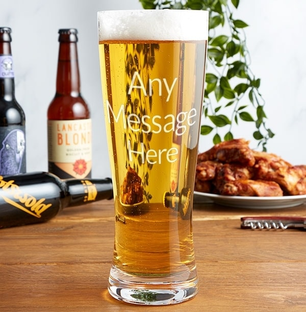Personalised Tall Pint Glass