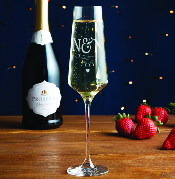 Engraved Anniversary Champagne Glass