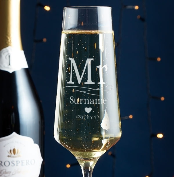 Personalised Champagne Glass - Mr