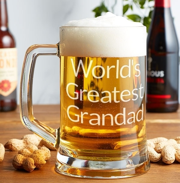 Personalised Grandad Pint Glass
