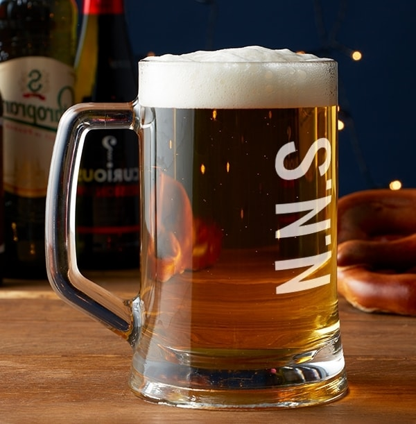 Personalised Large Initials Beer Tankard