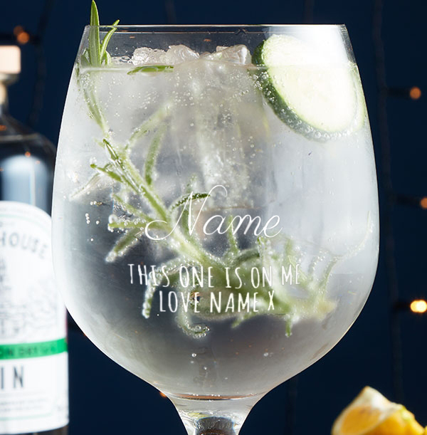 Personalised Gin Glass - This Ones On Me