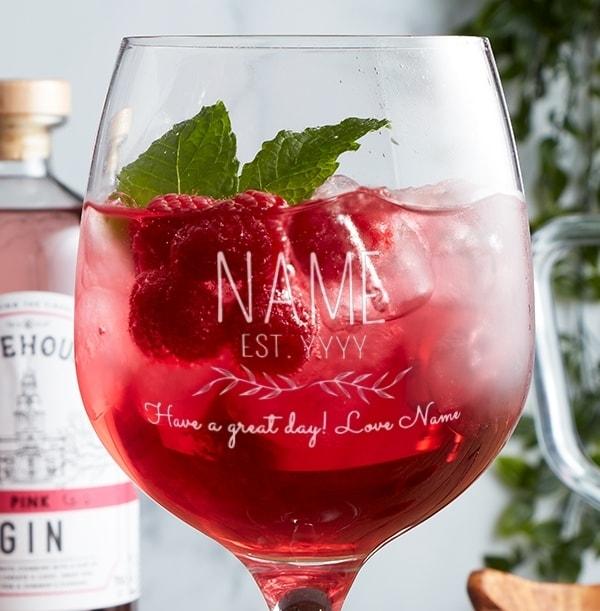 Personalised Spanish Gin Glass