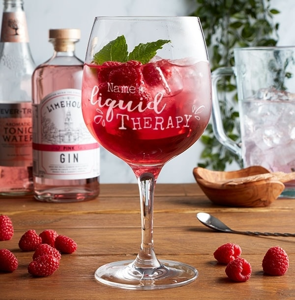 Personalised Liquid Therapy Gin Glass
