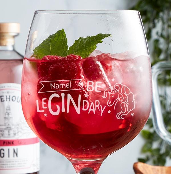 Personalised Gin Glass - Be LeGINdary