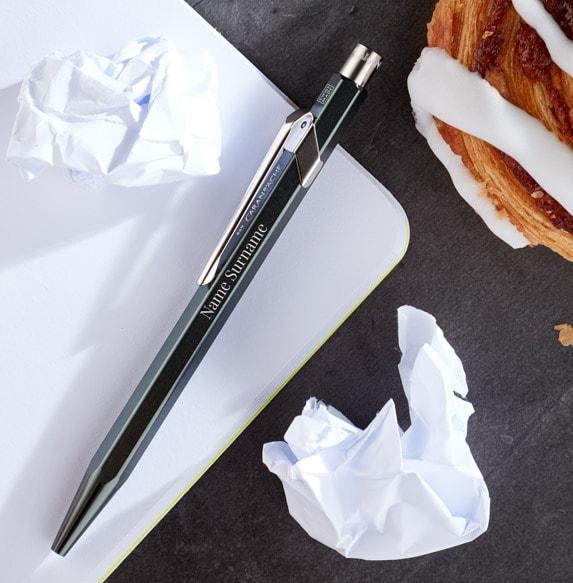 Personalised Caran d'Ache Ballpoint Pen - Black