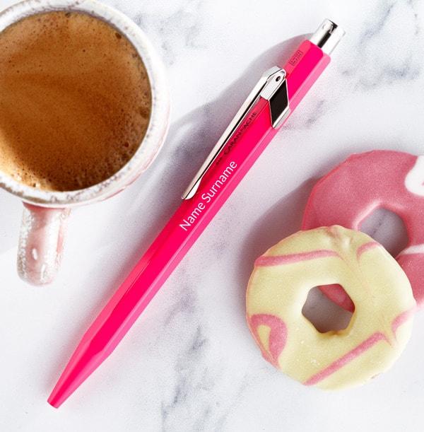 Personalised Caran d'Ache Ballpoint Pen - Pink