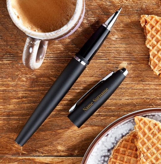 Personalised Cross Rollerball Pen - Black