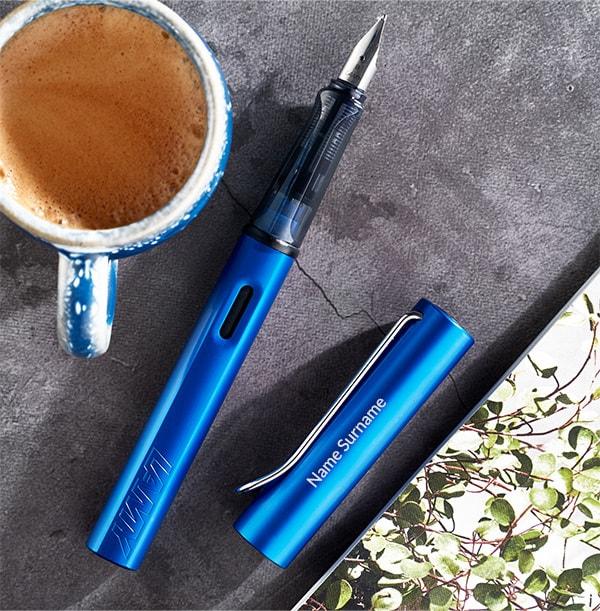 Personalised Lamy Fountain Pen - Ocean Blue