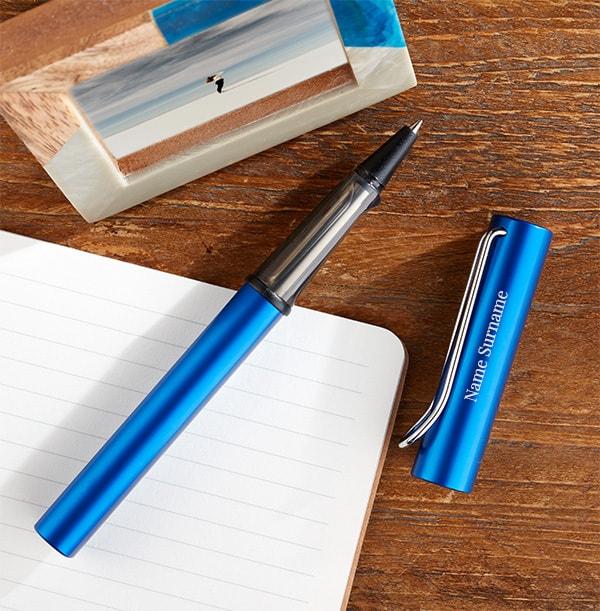 Personalised Lamy Rollerball Pen - Ocean Blue
