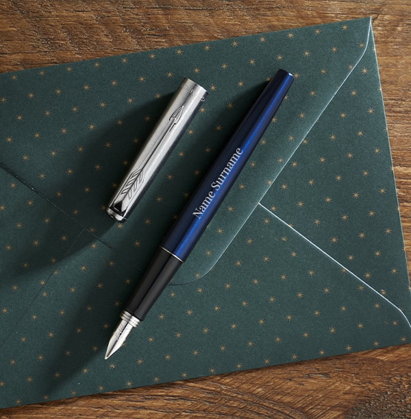 Personalised Parker Fountain Pen - Blue