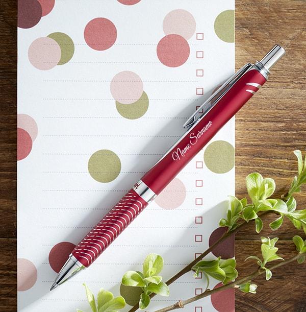 Personalised Pentel Rollerball Pen - Red