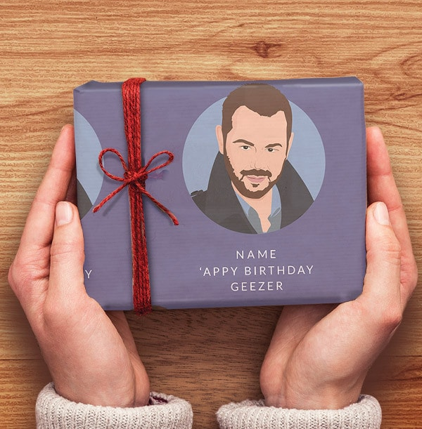 Happy Birthday Geezer Personalised Wrapping Paper