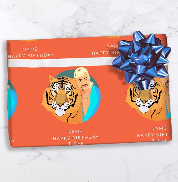 Happy Birthday Tiger Personalised Wrapping Paper