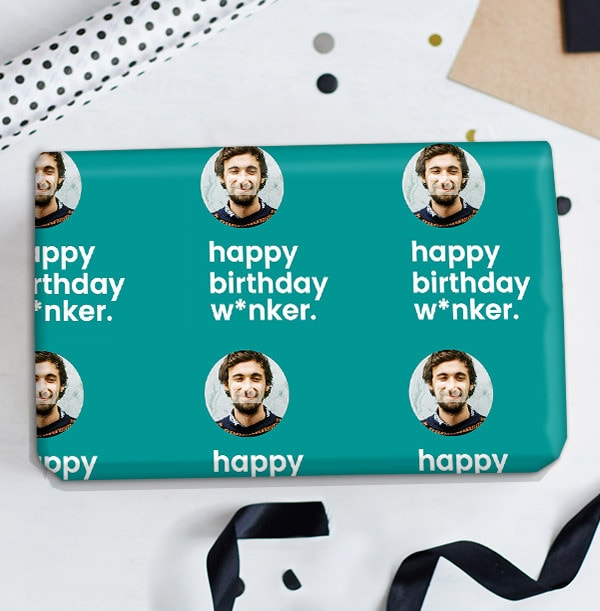 Happy Birthday W*nker Personalised Wrapping Paper