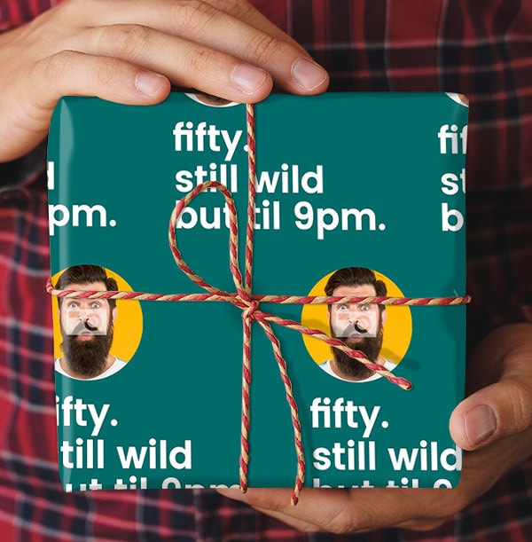 Fifty Still Wild Photo Wrapping Paper
