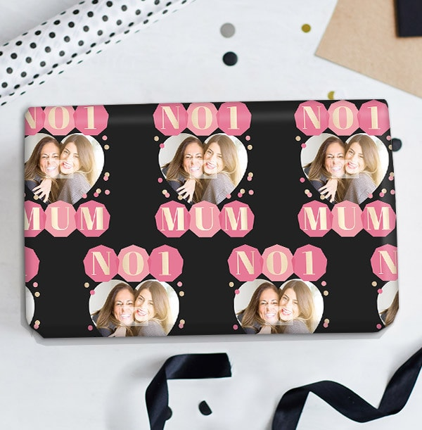 No 1 Mum Photo Wrapping Paper